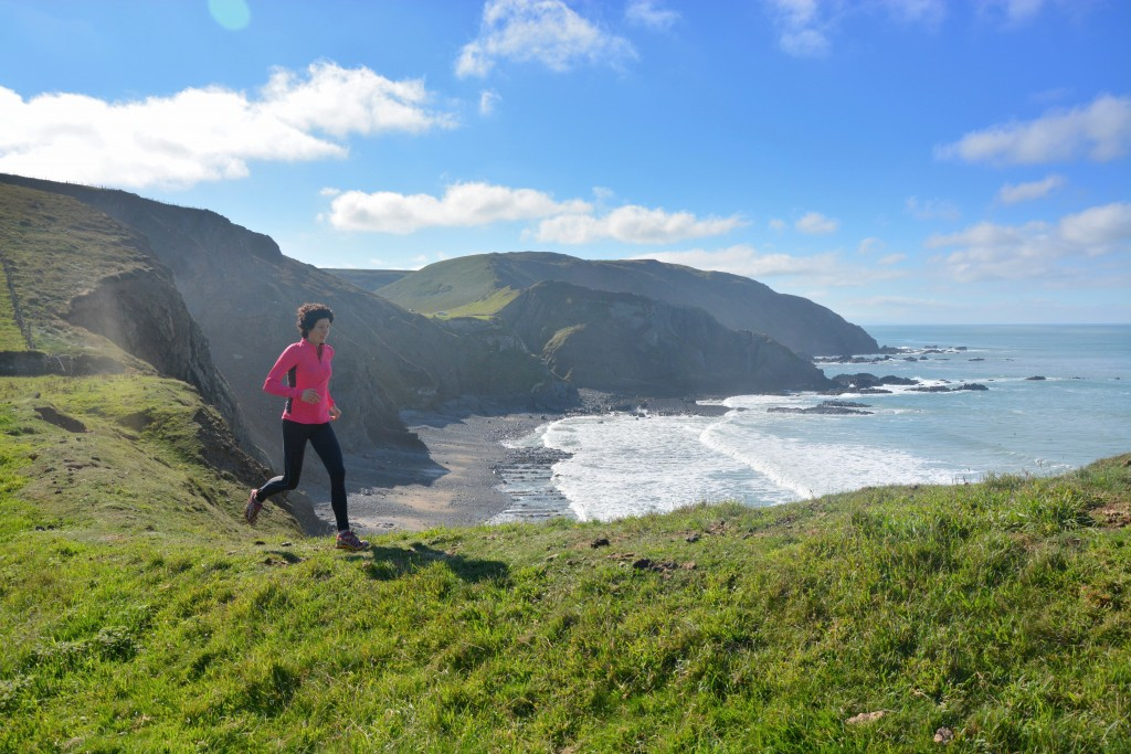 Coast Path running at Hartland