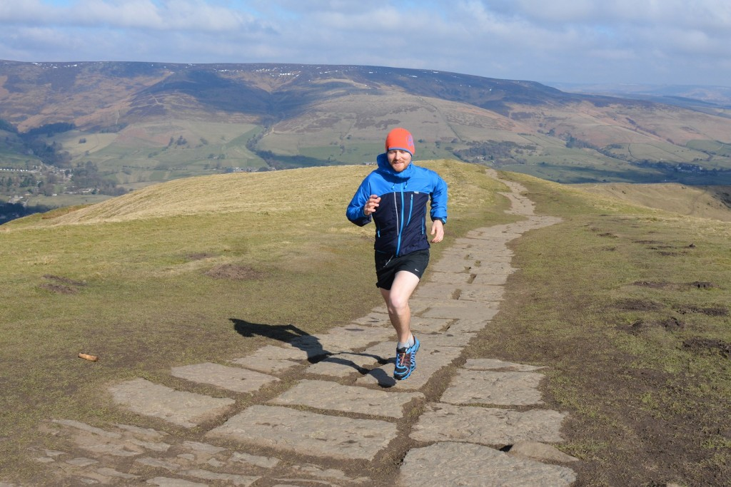 Paramo Enduro Windproof jacket on Mam Tor